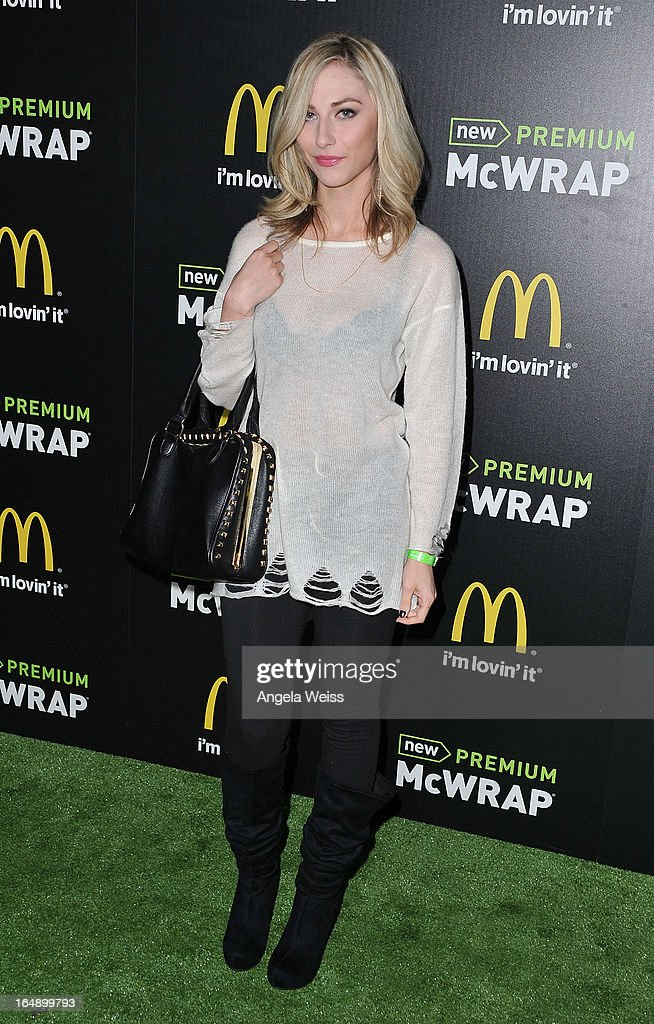 Actress Cody Kennedy attends the launch party of McDonald's Premium McWrap at Paramount Studios on March 28, 2013 in Hollywood, California.