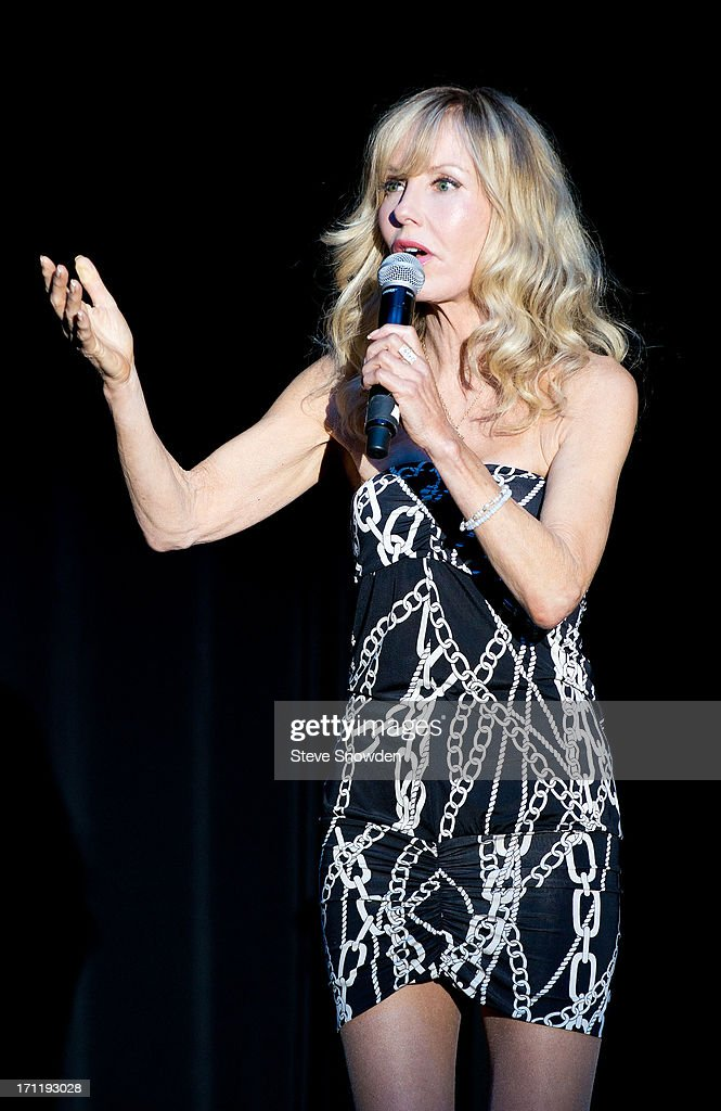 Actress, Comedian and wife of Tommy Chong, Shelby Fiddis Chong performs at Route 66 Casino's Legends Theater on June 22, 2013 in Albuquerque, New Mexico. Shelby Chong was the opening act and stage announcer for Cheech and Chong's sold out performance on June 22.