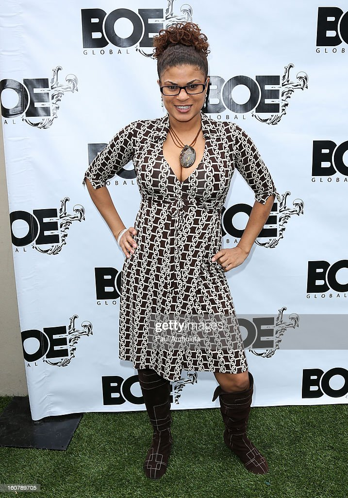 Actress / Comedian Janet Rousseau attends the 1st Annual Grammy Producers Brunch at Xen Lounge on February 5, 2013 in Los Angeles, California.