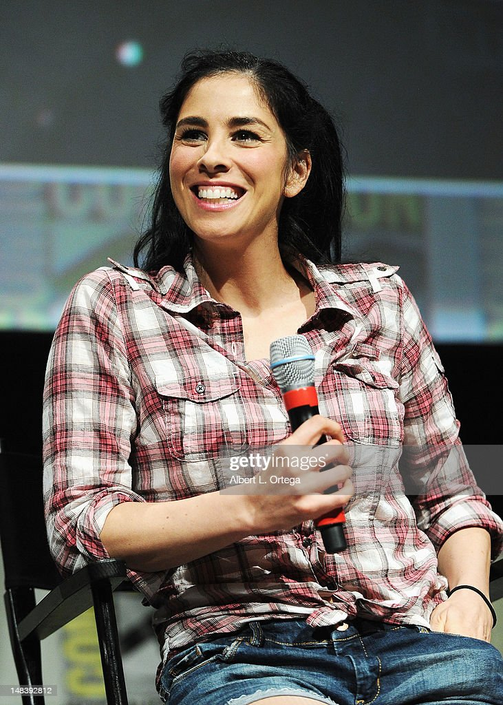 Actress, comedian <a gi-track='captionPersonalityLinkClicked' href=/galleries/search?phrase=Sarah+Silverman&family=editorial&specificpeople=241299 ng-click='$event.stopPropagation()'>Sarah Silverman</a> speaks at Walt Disney Studios: 'FrankenWeenie,' 'Oz The Great And Powerful' and 'Wreck It Ralph' Panels during Comic-Con International 2012 at San Diego Convention Center on July 12, 2012 in San Diego, California.
