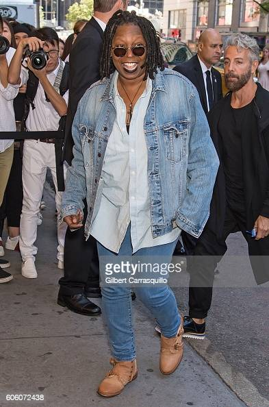Actress comedian television host Whoopi Goldberg is seen arriving at Marc Jacobs Spring 2017 fashion show during New York Fashion Week at Hammerstein...