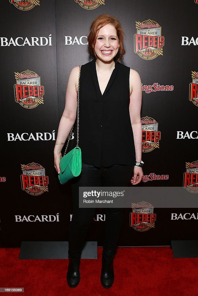 Actress/ comedian <a gi-track='captionPersonalityLinkClicked' href=/galleries/search?phrase=Vanessa+Bayer&family=editorial&specificpeople=7346101 ng-click='$event.stopPropagation()'>Vanessa Bayer</a> attends Inaugural Bacardi Rebels event hosted by Rolling Stone at Roseland Ballroom on May 20, 2013 in New York City.