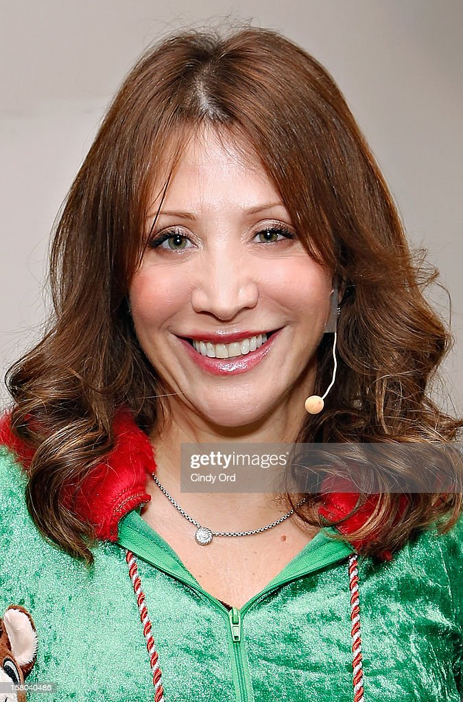 Actress/ comedienne Cheri Oteri poses backstage prior to her debut in 'Newsical The Musical' on December 9, 2012 in New York City.