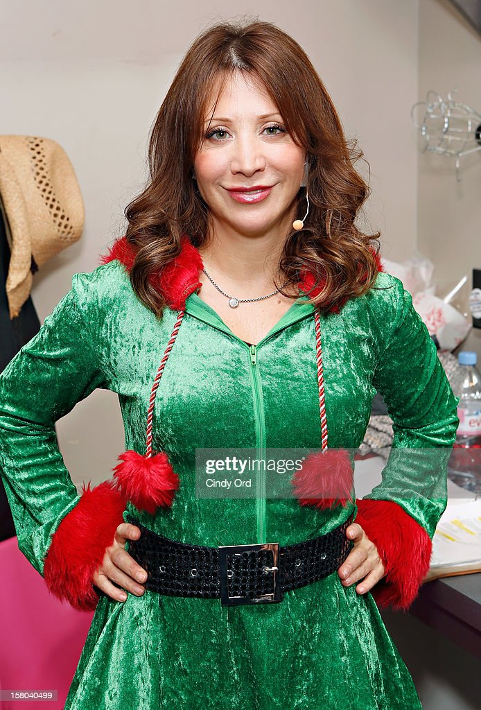Actress/ comedienne <a gi-track='captionPersonalityLinkClicked' href=/galleries/search?phrase=Cheri+Oteri&family=editorial&specificpeople=220435 ng-click='$event.stopPropagation()'>Cheri Oteri</a> poses backstage prior to her debut in 'Newsical The Musical' on December 9, 2012 in New York City.