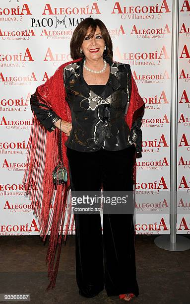 Actress Concha Velasco arrives to her 70th birthday party at Alegoria Club on November 24 2009 in Madrid Spain