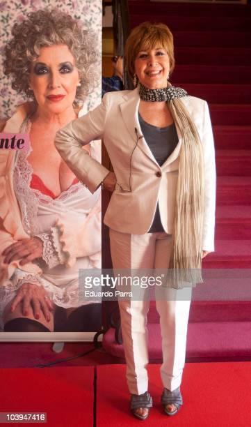 Actress Concha Velasco attends 'La vida por delante' press conference at La Latina Theatre on September 9 2010 in Madrid Spain