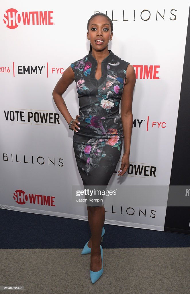 Actress Condola Rashad attends For Your Consideration Screening and Panel for Showtime's 'Billions' at The WGA Theater on April 26 2016 in Beverly...