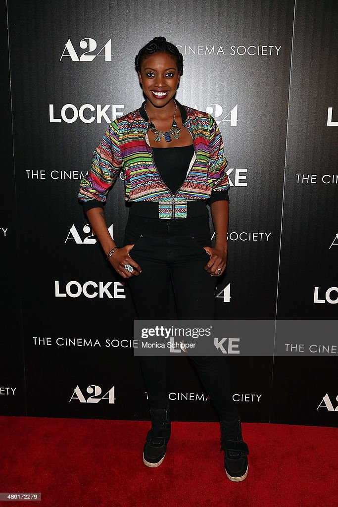 Actress Condola Rashad attends the A24 and The Cinema Society premiere of 'Locke' at The Paley Center for Media on April 22, 2014 in New York City.