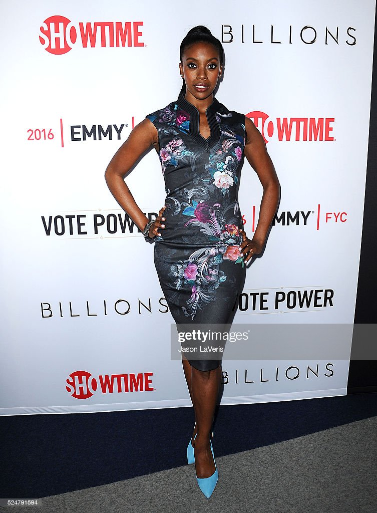 Actress Condola Rashad attends the For Your Consideration screening and panel for Showtime's 'Billions' at The WGA Theater on April 26 2016 in...