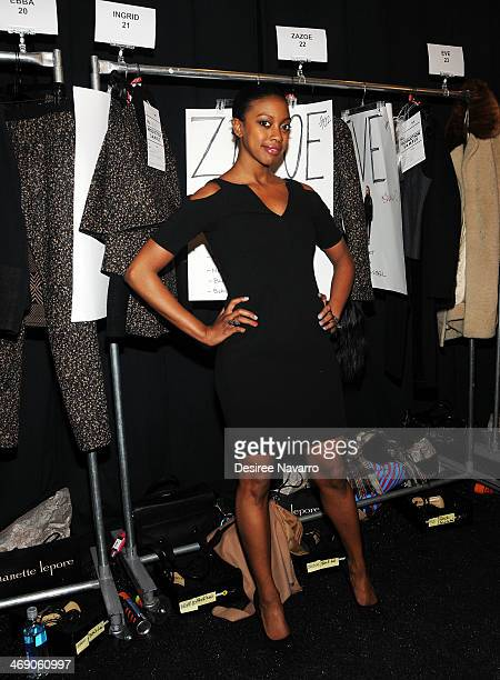 Actress Condola Rashad attends the Nanette Lepore Show during MercedesBenz Fashion Week Fall 2014 at The Salon at Lincoln Center on February 12 2014...