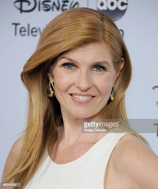 Actress Connie Britton arrives at the ABC/Disney TCA Winter Press Tour party at The Langham Huntington Hotel and Spa on January 17 2014 in Pasadena...