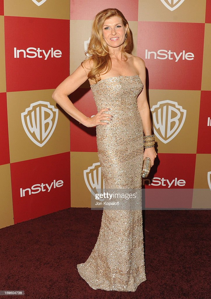 Actress Connie Britton arrives at the InStyle And Warner Bros. Golden Globe Party at The Beverly Hilton Hotel on January 13, 2013 in Beverly Hills, California.