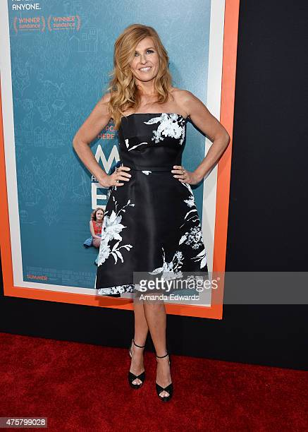 Actress Connie Britton arrives at the Los Angeles premiere of 'Me And Earl And The Dying Girl' at the Harmony Gold Theatre on June 3 2015 in Los...