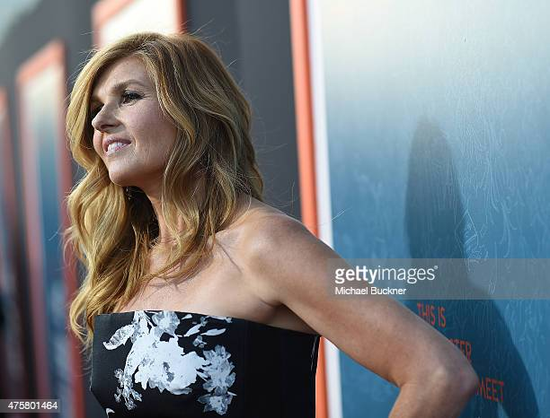 Actress Connie Britton arrives at the premiere of Fox Searchlight Pictures' 'Me And Earl And The Dying Girl' at the Harmony Gold Theatre on June 3...