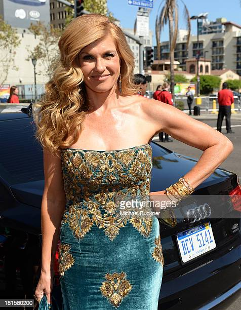 Actress Connie Britton arrives with Audi at the 65th Annual Primetime Emmy Awards held at Nokia Theatre LA Live on September 22 2013 in Los Angeles...