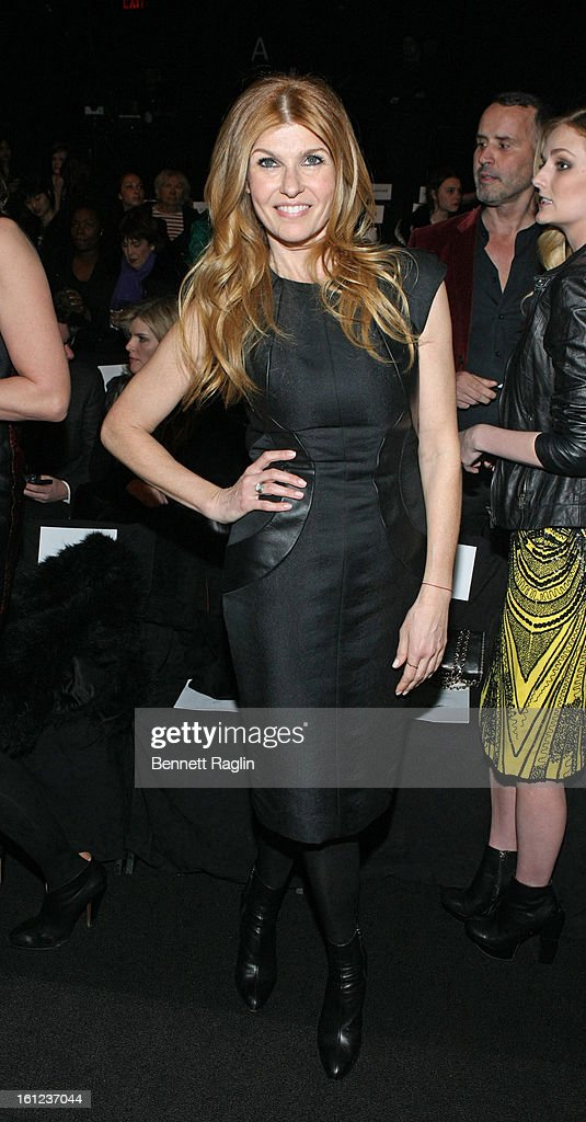 Actress <a gi-track='captionPersonalityLinkClicked' href=/galleries/search?phrase=Connie+Britton&family=editorial&specificpeople=234699 ng-click='$event.stopPropagation()'>Connie Britton</a> attends Monique Lhuillier during Fall 2013 Mercedes-Benz Fashion Week at The Theatre at Lincoln Center on February 9, 2013 in New York City.