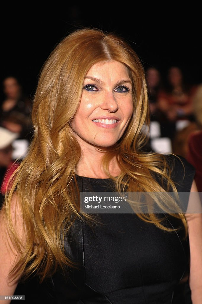 Actress Connie Britton attends the Monique Lhuillier Fall 2013 fashion show during Mercedes-Benz Fashion at The Theatre at Lincoln Center on February 9, 2013 in New York City.