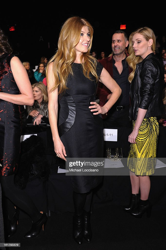 Actress <a gi-track='captionPersonalityLinkClicked' href=/galleries/search?phrase=Connie+Britton&family=editorial&specificpeople=234699 ng-click='$event.stopPropagation()'>Connie Britton</a> attends the Monique Lhuillier Fall 2013 fashion show during Mercedes-Benz Fashion at The Theatre at Lincoln Center on February 9, 2013 in New York City.