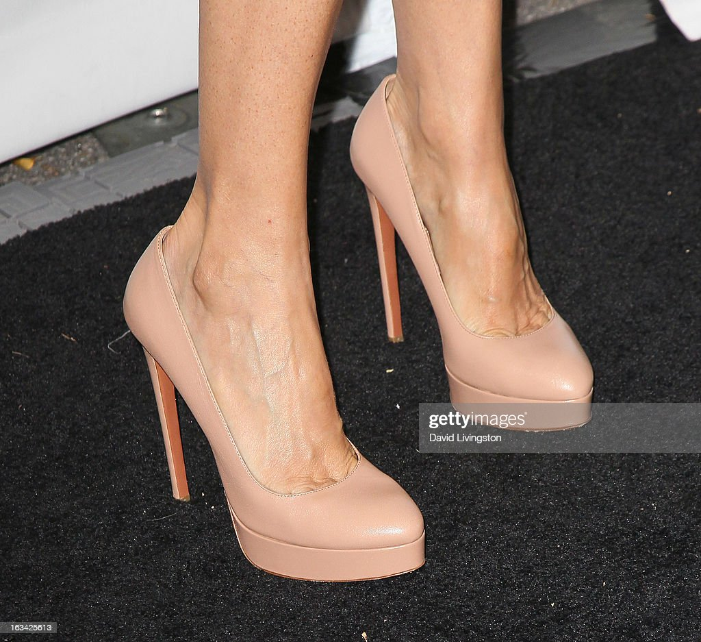 Actress Connie Britton (shoe detail) attends The Paley Center For Media's PaleyFest 2013 honoring 'Nashville' at the Saban Theatre on March 9, 2013 in Beverly Hills, California.