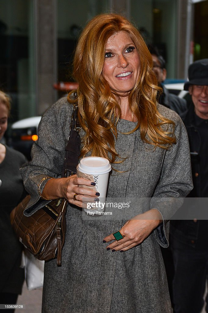 Actress Connie Britton enters Sirius XM Radio on October 9, 2012 in New York City.