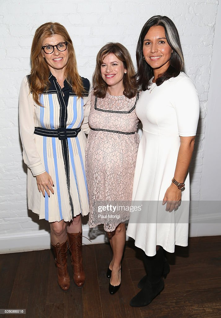 Actress <a gi-track='captionPersonalityLinkClicked' href=/galleries/search?phrase=Connie+Britton&family=editorial&specificpeople=234699 ng-click='$event.stopPropagation()'>Connie Britton</a>, Glamour Washington, DC Editor Giovannna Gray Lockhart and Congresswoman <a gi-track='captionPersonalityLinkClicked' href=/galleries/search?phrase=Tulsi+Gabbard&family=editorial&specificpeople=8834801 ng-click='$event.stopPropagation()'>Tulsi Gabbard</a> attend the Glamour and Facebook brunch to discuss sexism in 2016, during WHCD Weekend at Kinship on April 29, 2016 in Washington, DC.