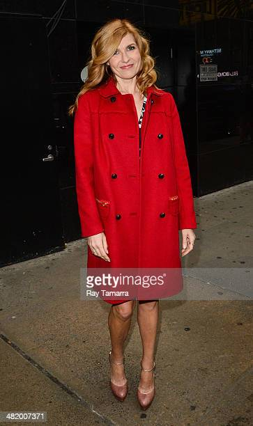 Actress Connie Britton leaves the 'Good Morning America' taping at the ABC Times Square Studios on April 2 2014 in New York City