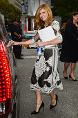 Actress Connie Britton leaves the MercedesBenz Fashion Week at Lincoln Center for the Performing Arts on September 9 2014 in New York City