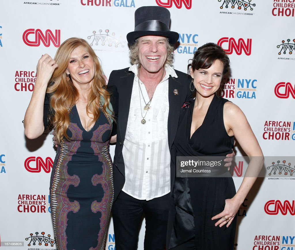 Actress Connie Britton, singer Big Kenny and actress Carla Gugino attend 4th Annual African Children's Choir Fundraising Gala at City Winery on December 3, 2012 in New York City.