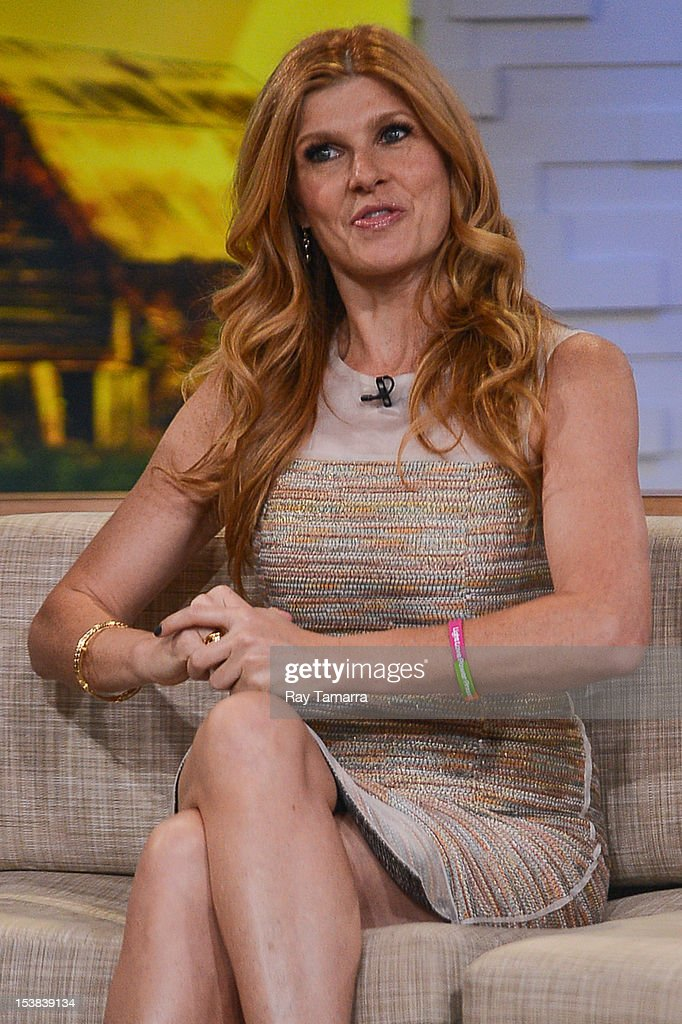 Actress Connie Britton tapes an interview at 'Good Morning America' at the ABC Times Square Studios on October 9, 2012 in New York City.
