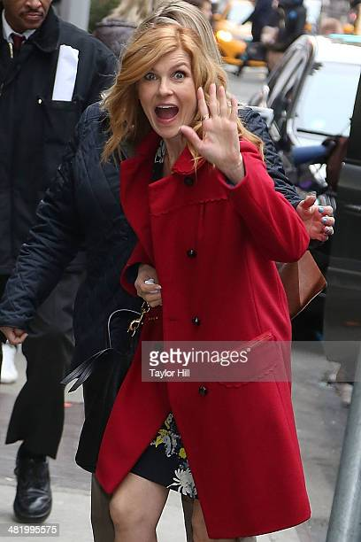 Actress Connie Britton visits 'Good Morning America' on April 2 2014 in New York City
