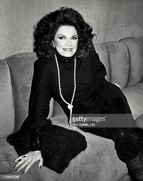 Actress Connie Francis attends the book party for Connie Francis 'Who's Sorry Now' on October 9 1984 at Visage in New York City