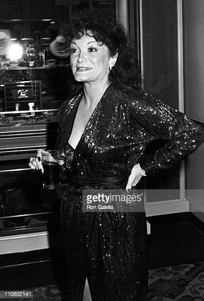 Actress Connie Francis attends the rehearsals for 39th Annual Golden Globe Awards on January 29 1982 at the Beverly Hilton Hotel in Beverly Hills...