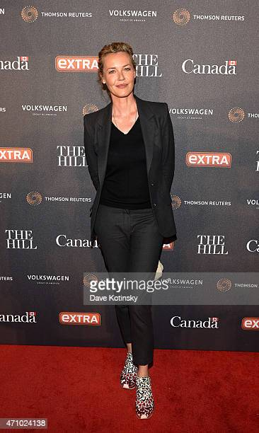 Actress Connie Nielsen attends the The Hill Extra And The Embassy Of Canada Celebrate The White House Correspondents' Dinner Weekend at Embassy of...
