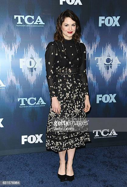 Actress Conor Leslie attends the 2017 FOX AllStar Party at Langham Hotel on January 11 2017 in Pasadena California