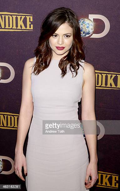Actress Conor Leslie attends the 'Klondike' series premiere at Best Buy Theater on January 16 2014 in New York City