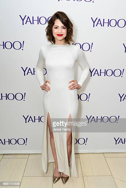 Actress Conor Leslie attends Yahoo Screen Launch Party For Paul Feig's 'Other Space' at The London West Hollywood on April 14 2015 in West Hollywood...