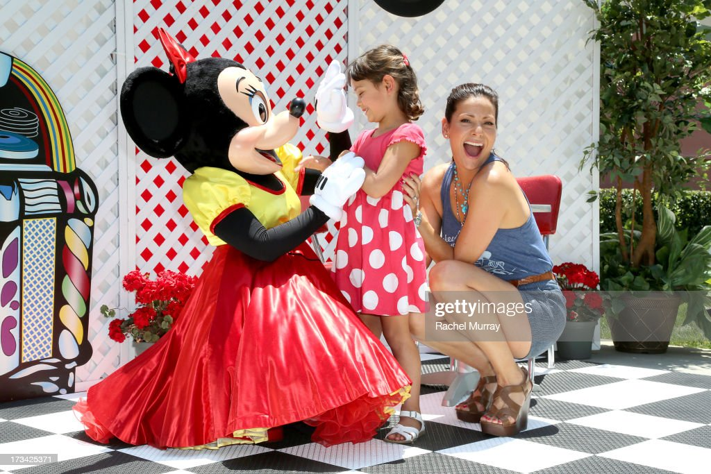 Actress <a gi-track='captionPersonalityLinkClicked' href=/galleries/search?phrase=Constance+Marie&family=editorial&specificpeople=204646 ng-click='$event.stopPropagation()'>Constance Marie</a> (R) and daughter Luna Marie Katich attend Mickey Through The Decades Collection Launch Celebration at Walt Disney Studio Lot on July 13, 2013 in Burbank, California.