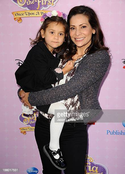 Actress Constance Marie and daughter Luna Marie Katich attend the premiere of 'Sofia The First Once Upon a Princess' at Walt Disney Studios on...