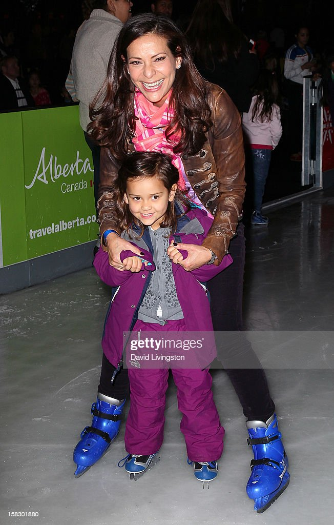 Actress <a gi-track='captionPersonalityLinkClicked' href=/galleries/search?phrase=Constance+Marie&family=editorial&specificpeople=204646 ng-click='$event.stopPropagation()'>Constance Marie</a> and daughter Luna Marie Katich attend the opening night of Disney On Ice's 'Dare To Dream' at LA Kings Holiday Ice at L.A. LIVE on December 12, 2012 in Los Angeles, California.