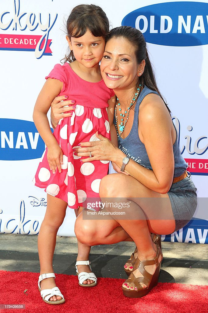 Actress Constance Marie and her daughter, Luna Marie Katich, attend the Old Navy & Disney's 'Mickey Through The Decades' Collection Celebration at Walt Disney Studios on July 13, 2013 in Burbank, California.