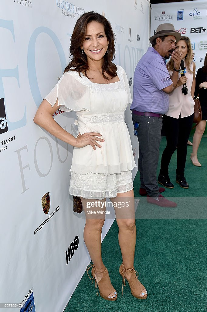 Actress Constance Marie attends the 9th Annual George Lopez Celebrity Golf Classic to benefit The George Lopez Foundation at Lakeside Golf Club on May 2, 2016 in Burbank, California.