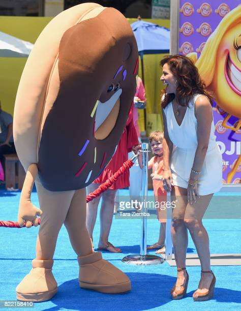 Actress Constance Marie attends the premiere of Columbia Pictures and Sony Pictures Animation's 'The Emoji Movie' at Regency Village Theatre on July...