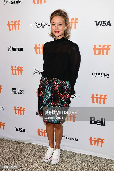 Actress Constance Rousseau attends the premiere of 'Daguerrotype' during the 2016 Toronto International Film Festival at Winter Garden Theatre on...