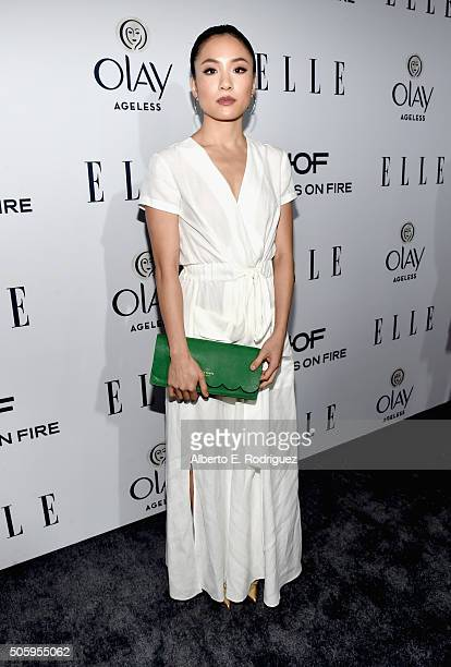 Actress Constance Wu attends ELLE's 6th Annual Women in Television Dinner Presented by Hearts on Fire Diamonds and Olay at Sunset Tower on January 20...