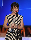 Actress Constance Zimmer accepts the Supporting Actress In A Drama Series award for 'UnREAL' onstage during the 21st Annual Critics' Choice Awards at...