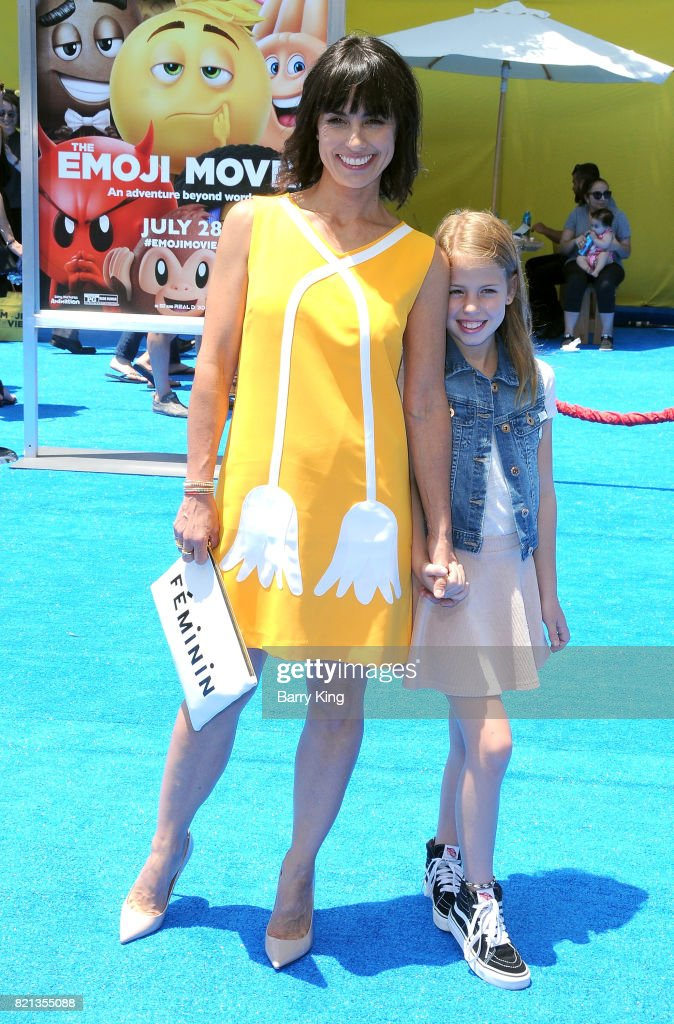 Actress Constance Zimmer and daughter Colette Zoe Lamoureux attend the premiere of Columbia Pictures and Sony Pictures Animations' The Emoji Movie' at Regency Village Theatre on July 23, 2017 in Westwood, California.