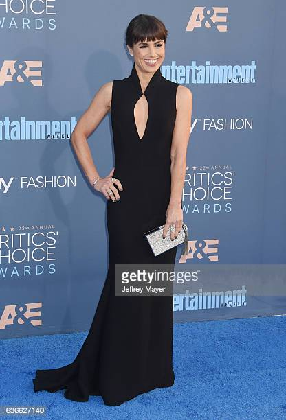 Actress Constance Zimmer arrives at The 22nd Annual Critics' Choice Awards at Barker Hangar on December 11 2016 in Santa Monica California