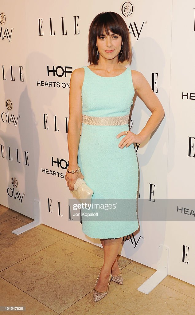 Actress <a gi-track='captionPersonalityLinkClicked' href=/galleries/search?phrase=Constance+Zimmer&family=editorial&specificpeople=217359 ng-click='$event.stopPropagation()'>Constance Zimmer</a> arrives at the ELLE Women In Television Celebration at Sunset Tower on January 22, 2014 in West Hollywood, California.