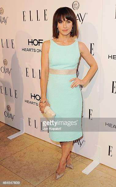 Actress Constance Zimmer arrives at the ELLE Women In Television Celebration at Sunset Tower on January 22 2014 in West Hollywood California
