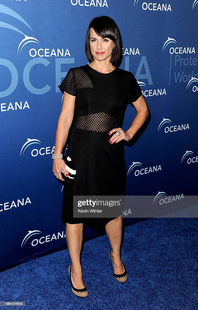 Actress Constance Zimmer arrives at the Oceana Partners Award Gala at the Beverly Wilshire Hotel on October 30, 2013 in Beverly Hills, California.